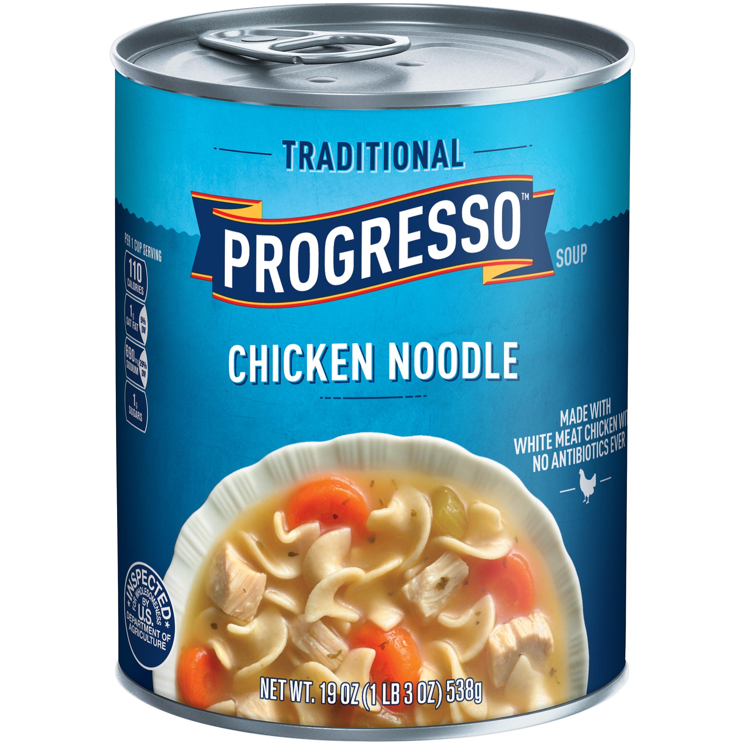 Progresso Chicken Noodle Soup  Progresso Traditional Soup Chicken Noodle 19 oz 1 lb 3