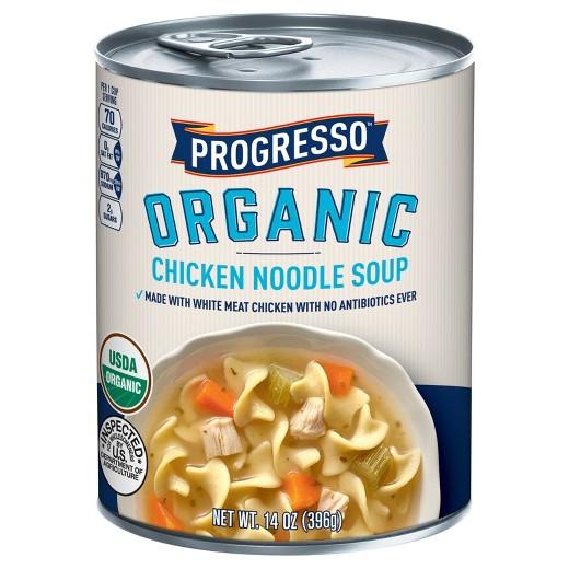 Progresso Chicken Noodle Soup  Progresso Organic Chicken Noodle Soup 14 oz Tar