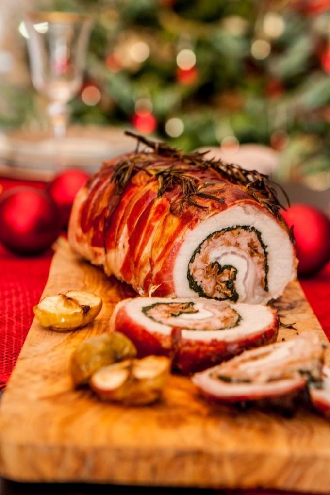 Prosciutto Wrapped Pork Tenderloin  Roasted Prosciutto Wrapped Pork Loin – Happy Christmas
