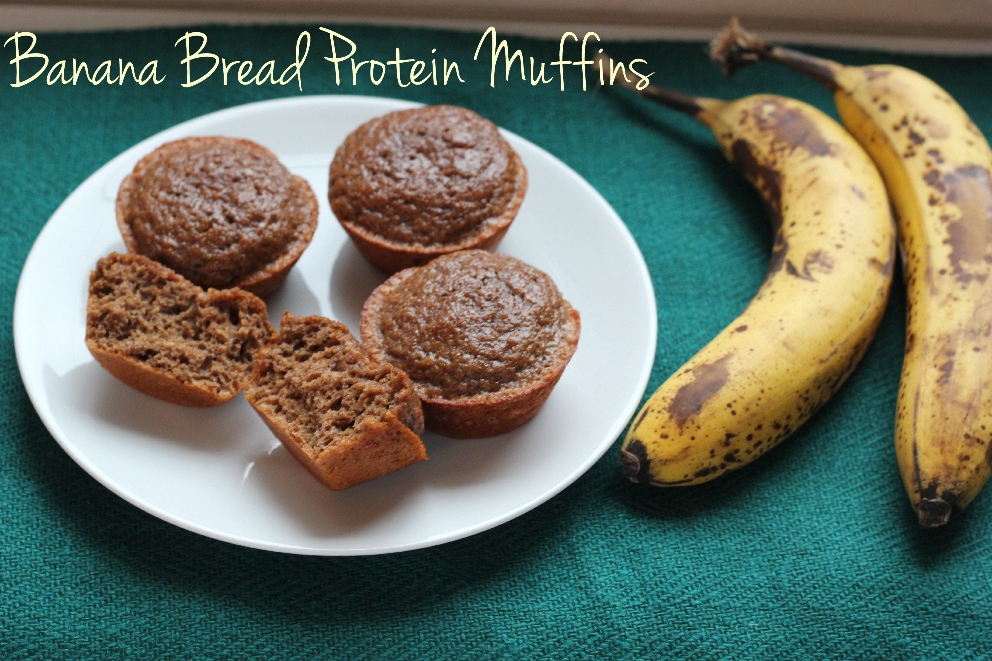 Protein Banana Bread  Banana Bread Protein Muffins I Heart Ve ables