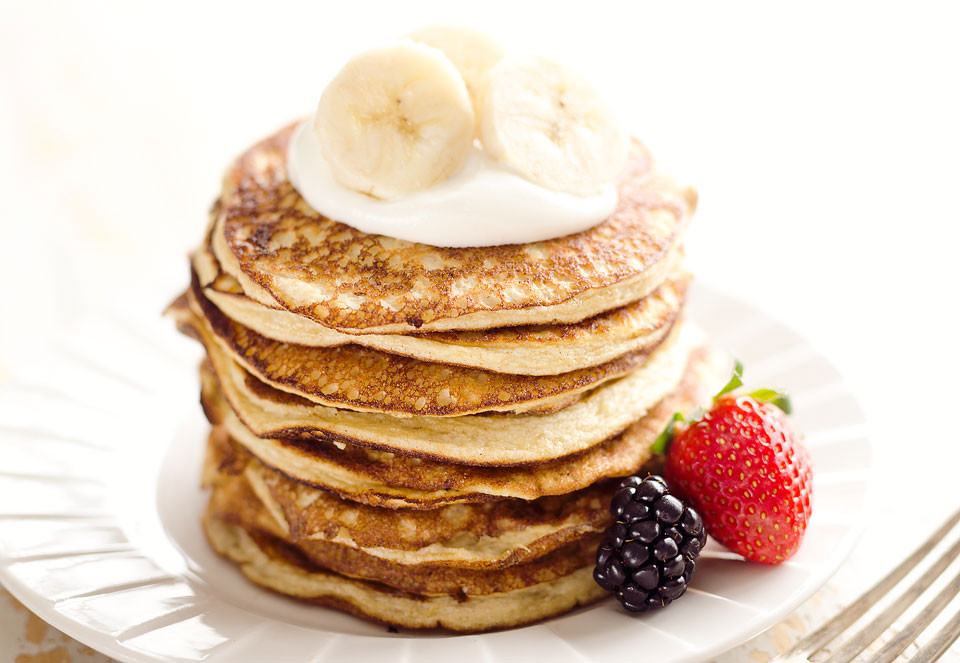 Protein Banana Pancakes  Light & Fluffy Banana Protein Pancakes Low Carb Breakfast