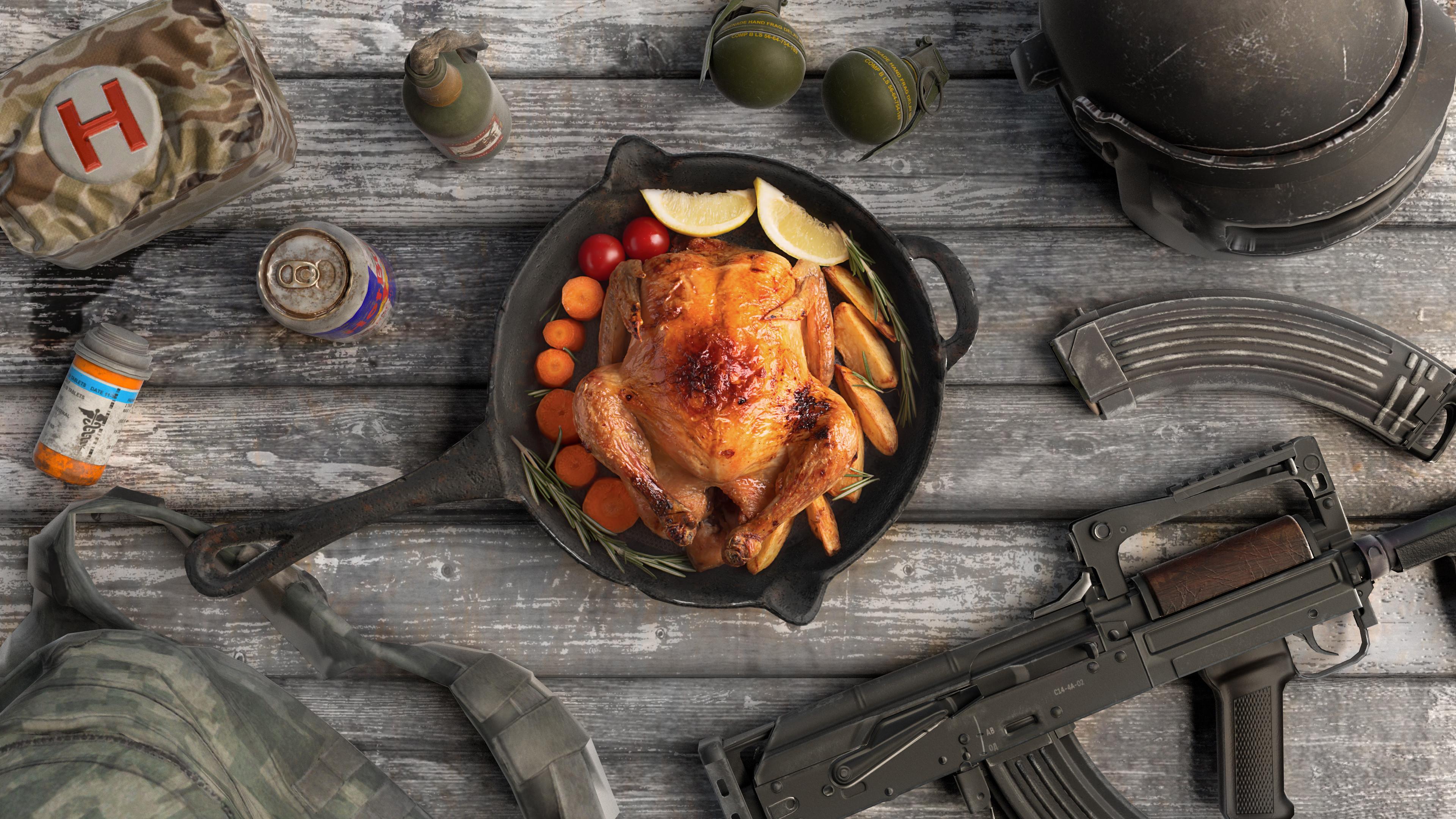 Pubg Chicken Dinner  PUBG Chicken Dinner Wallpaper PUBGHQ