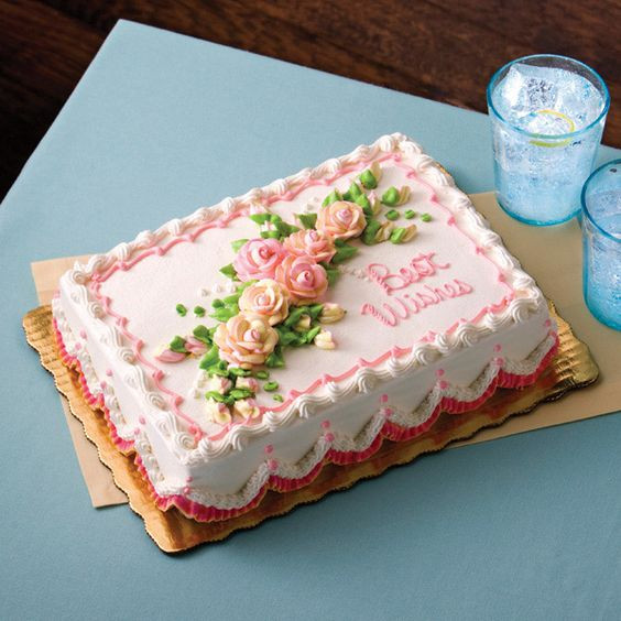 Publix Birthday Cake  Floral Design Best Wishes Publix marble cake with