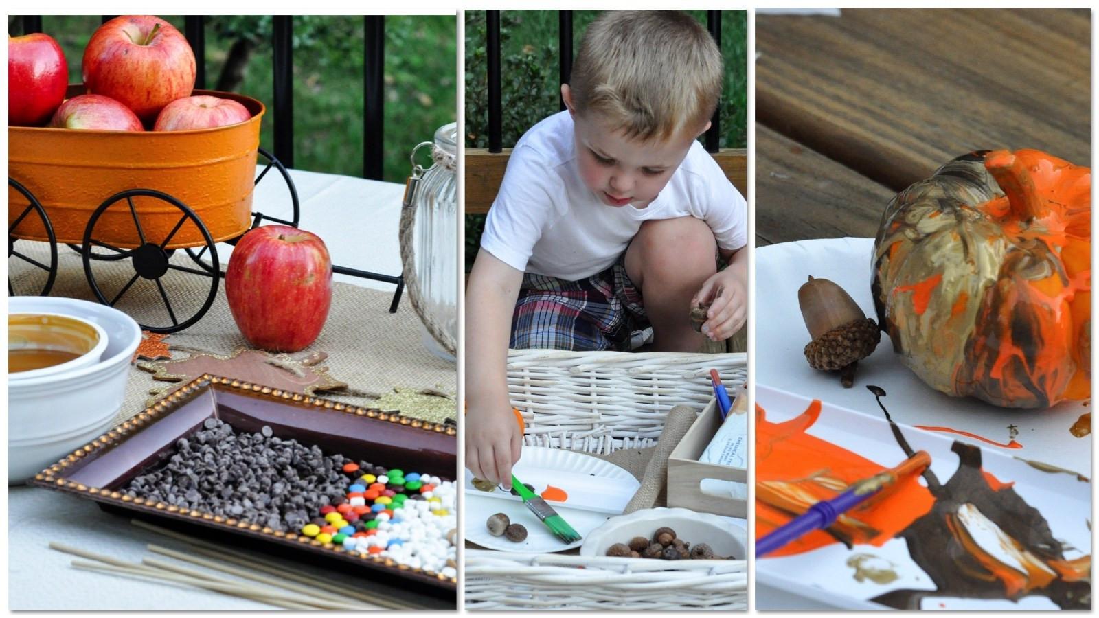 Publix Thanksgiving Dinner 2018  Fall Activities for Kids A Painting Pumpkins & Acorns