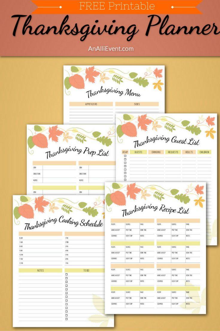 Publix Thanksgiving Dinner 2018  FREE Thanksgiving Planner Printable