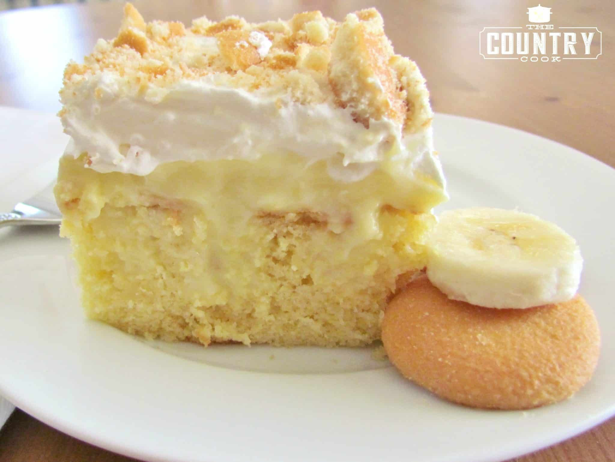 Pudding Cake Recipe  Banana Pudding Poke Cake The Country Cook