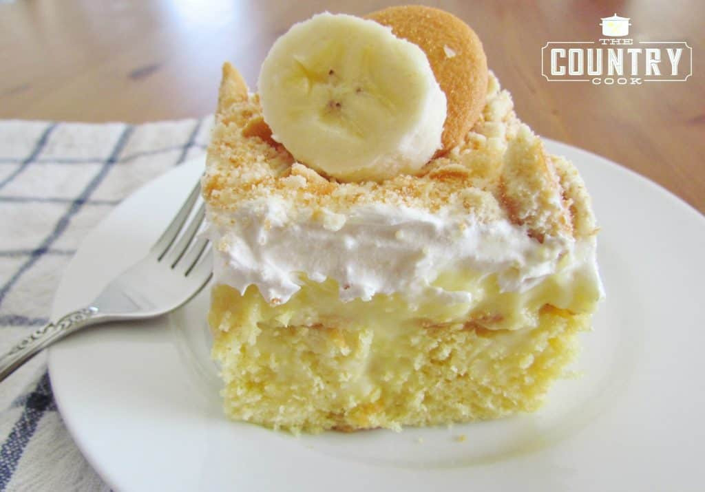 Pudding Cake Recipe  Best Banana Pudding Poke Cake The Country Cook