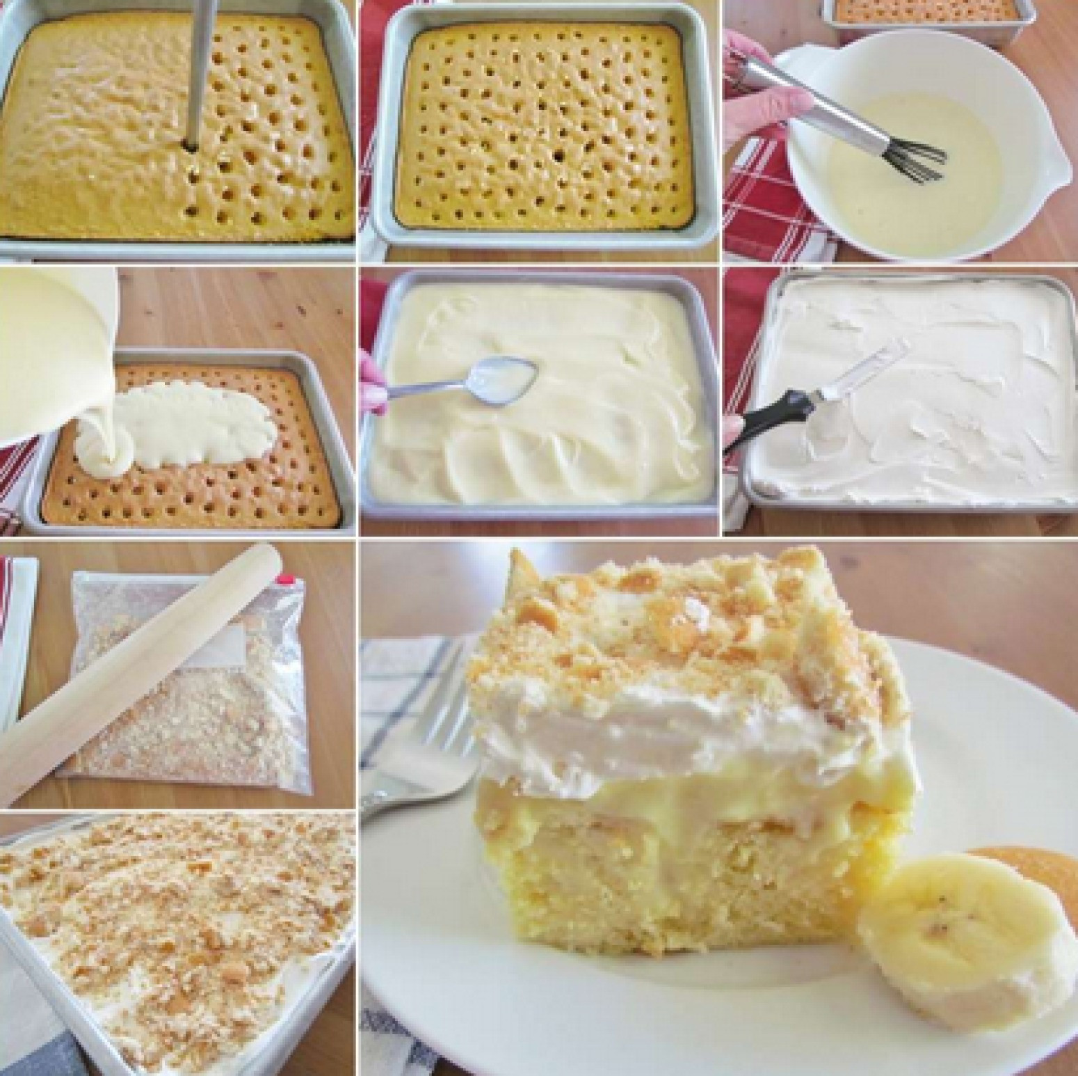Pudding Cake Recipe  BANANA PUDDING POKE CAKE Recipe 30