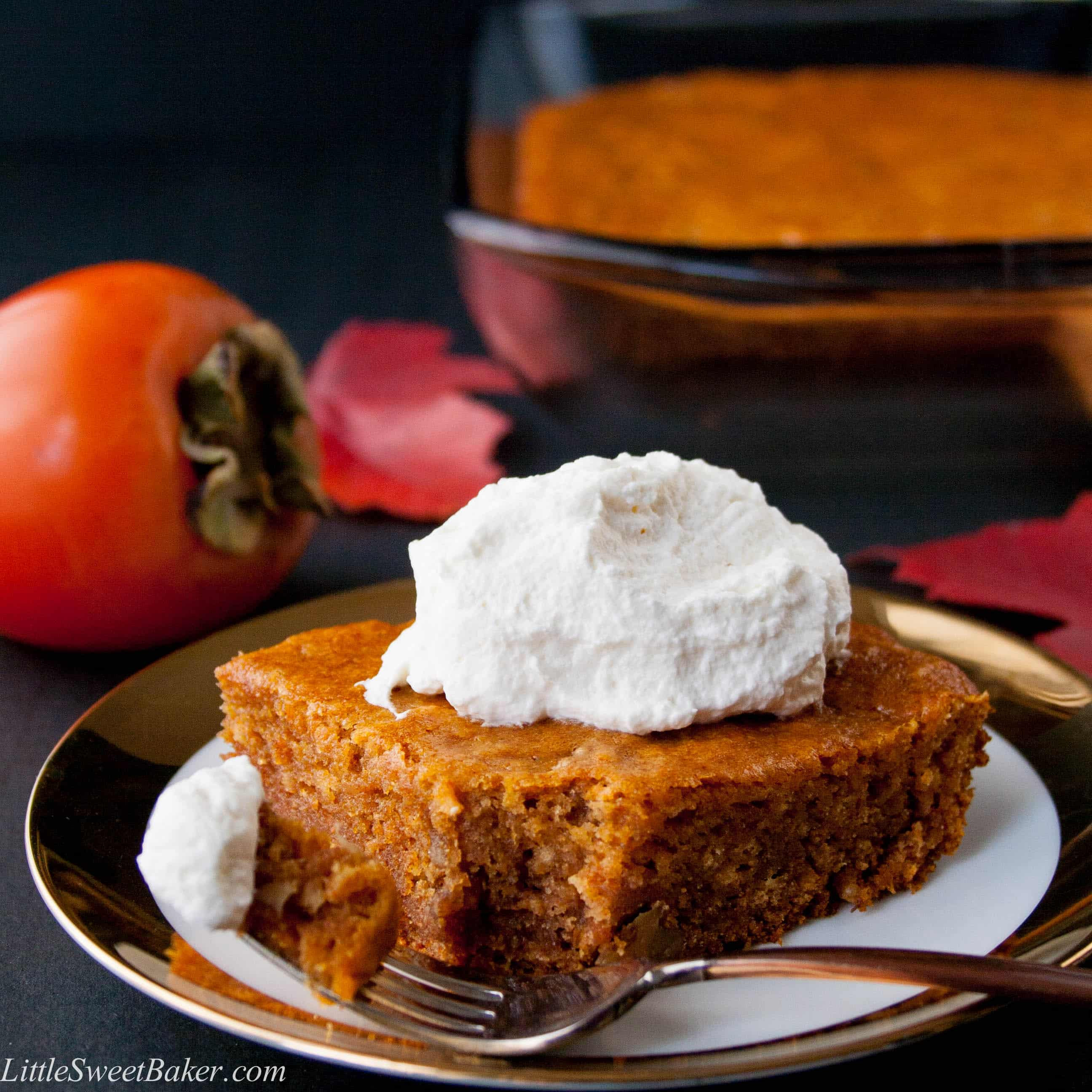 Pudding Cake Recipe  Persimmon Pudding Cake Recipe Little Sweet Baker