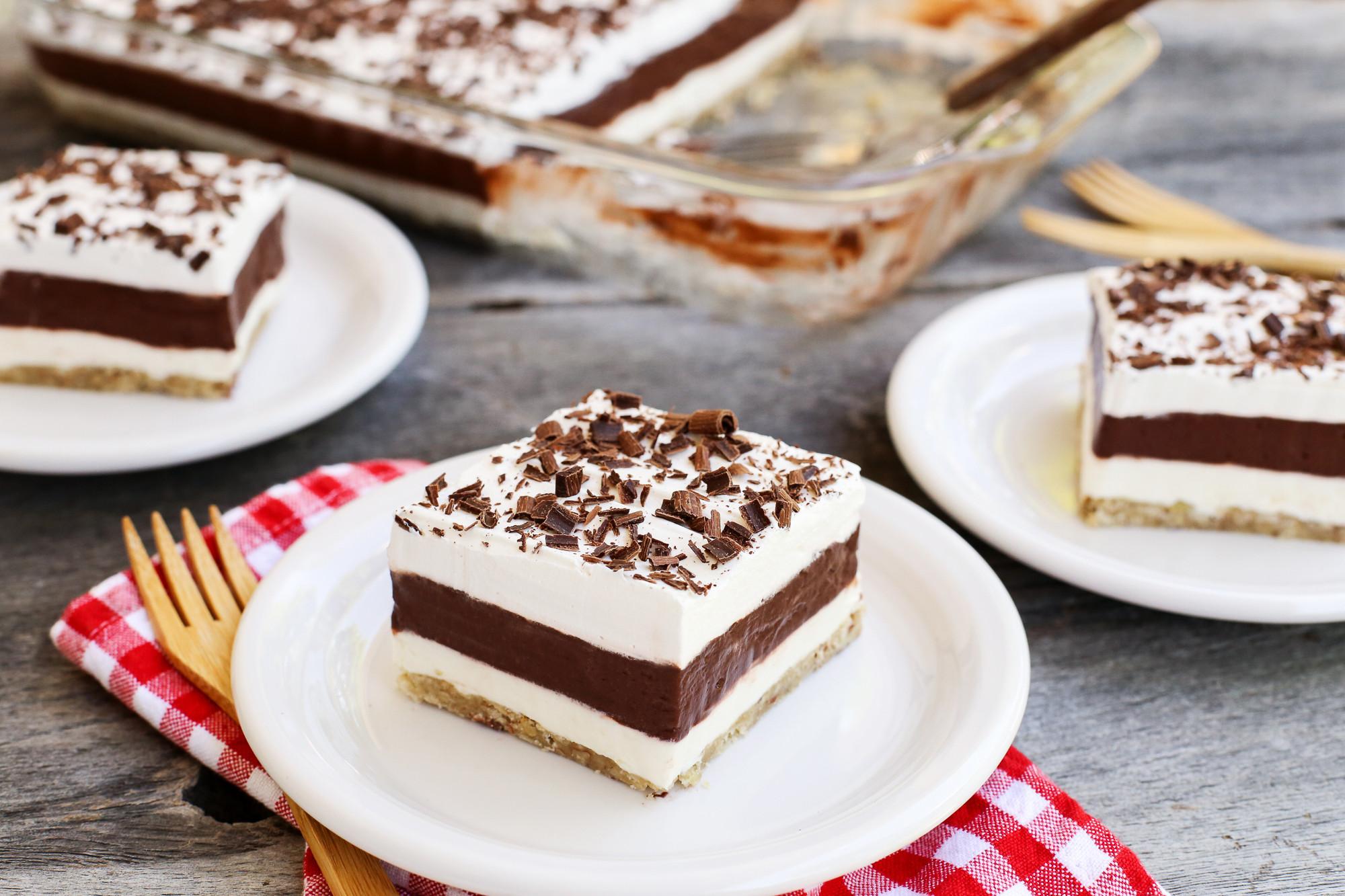 Pudding Dessert Recipe  Layered Chocolate Pudding Dessert