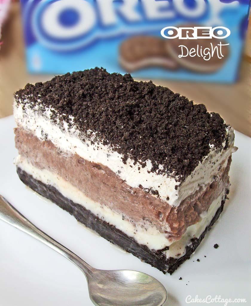 Pudding Dessert Recipe  Oreo Delight with Chocolate Pudding Cakescottage