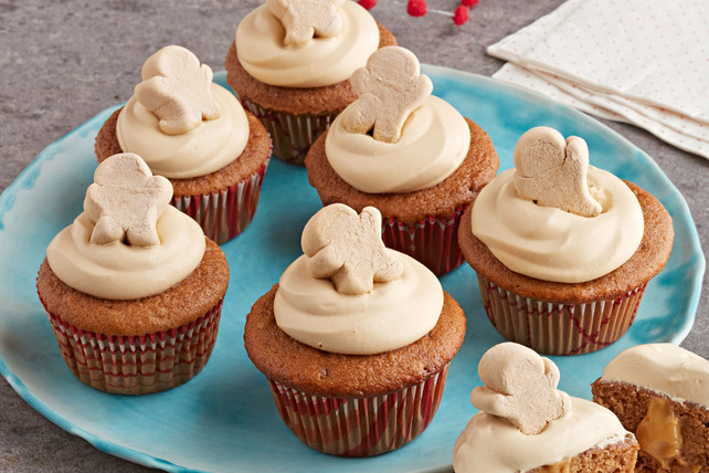 Pudding Filled Cupcakes  Pudding Filled Gingerbread Cupcakes Kraft Recipes
