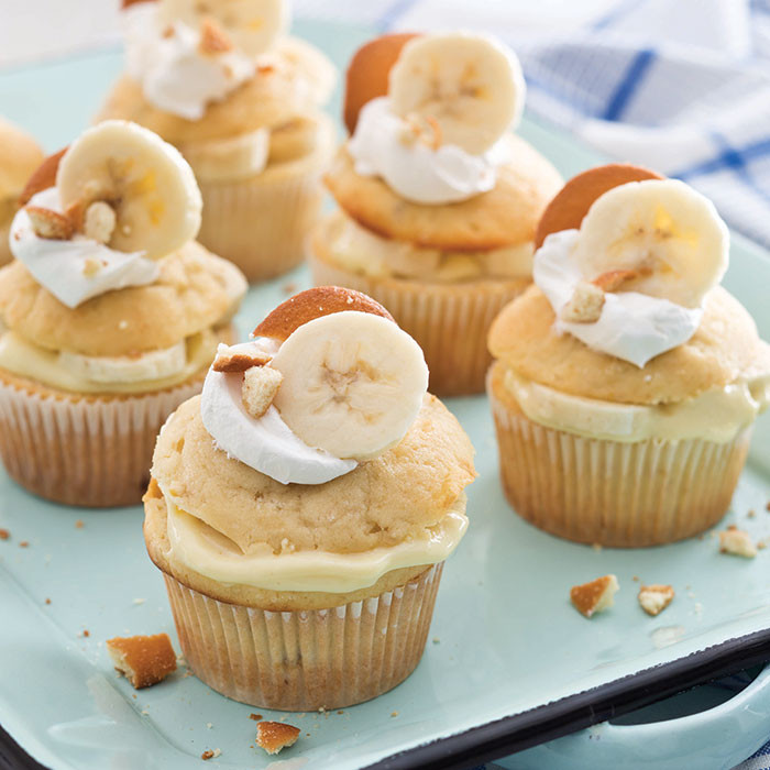 Pudding Filled Cupcakes  Banana Pudding Filled Cupcakes Taste of the South