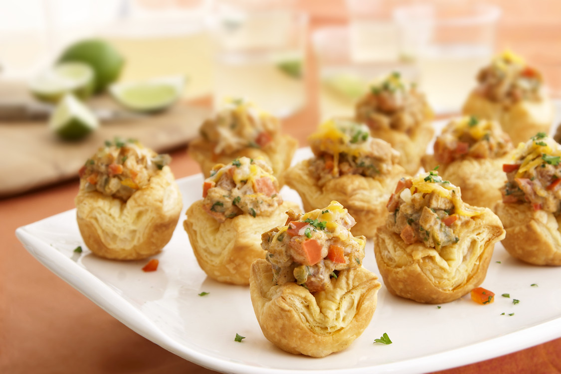 Puffed Pastry Appetizers Recipes  King Ranch Chicken Shells Puff Pastry