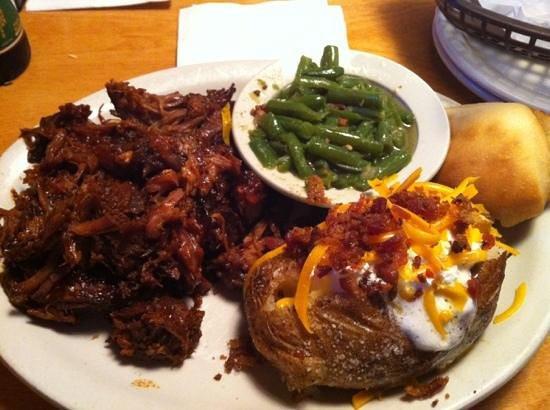 Pulled Pork Dinner  Pulled pork dinner de Texas Roadhouse Kissimmee