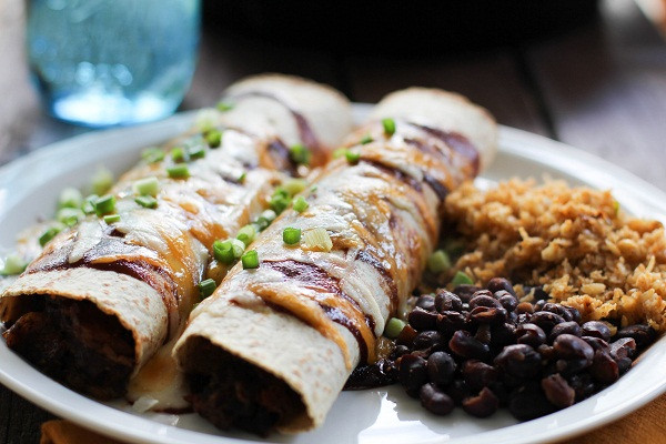 Pulled Pork Enchiladas  BBQ Pulled Pork Enchiladas