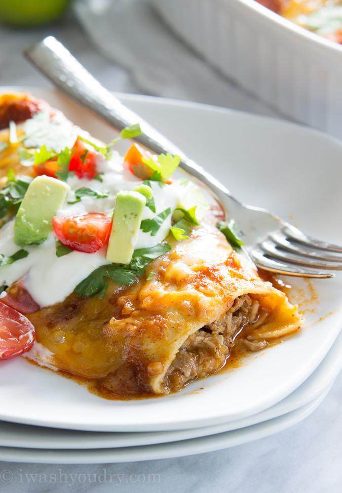 Pulled Pork Enchiladas  Sweet Pulled Pork Enchiladas