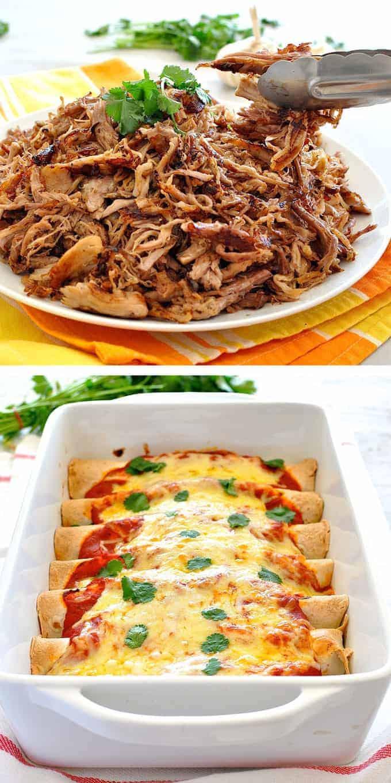 Pulled Pork Enchiladas  Pulled Pork Enchiladas Pork Carnitas