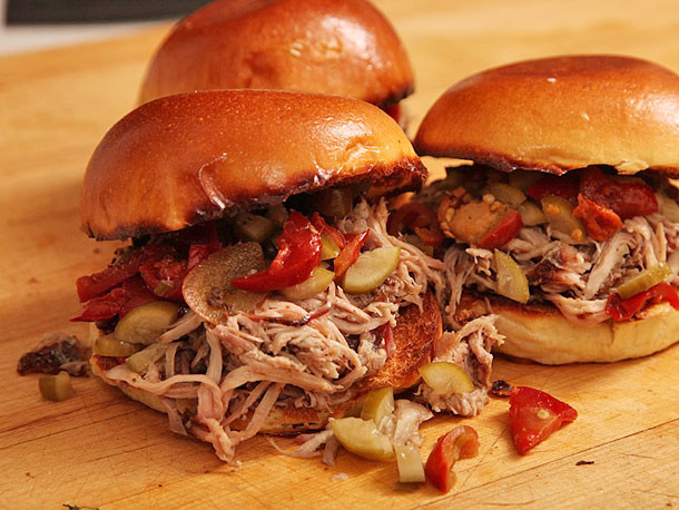 Pulled Pork Sandwiches  Easy Oven Baked Pulled Pork Sandwiches With Pickled