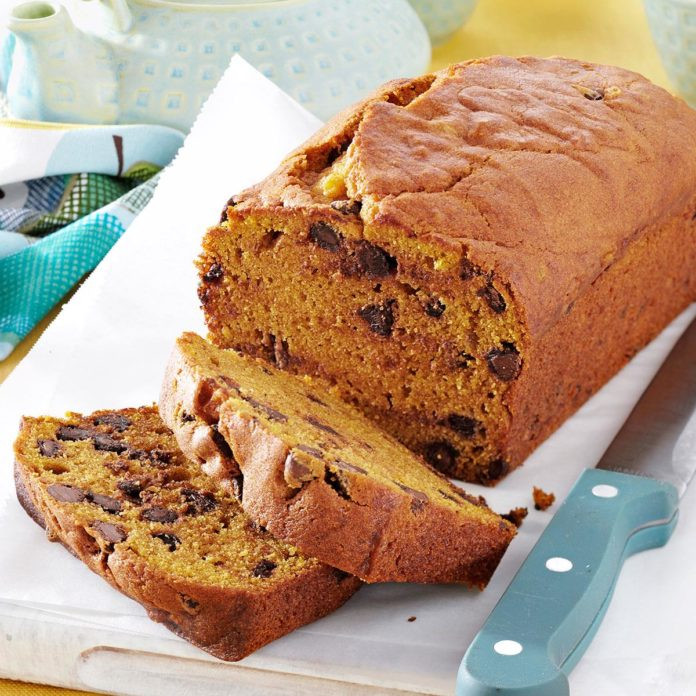 Pumpkin Bread With Chocolate Chips  Contest Winning Chocolate Chip Pumpkin Bread Recipe