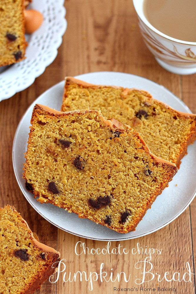 Pumpkin Bread With Chocolate Chips  Chocolate chip pumpkin quick bread recipe