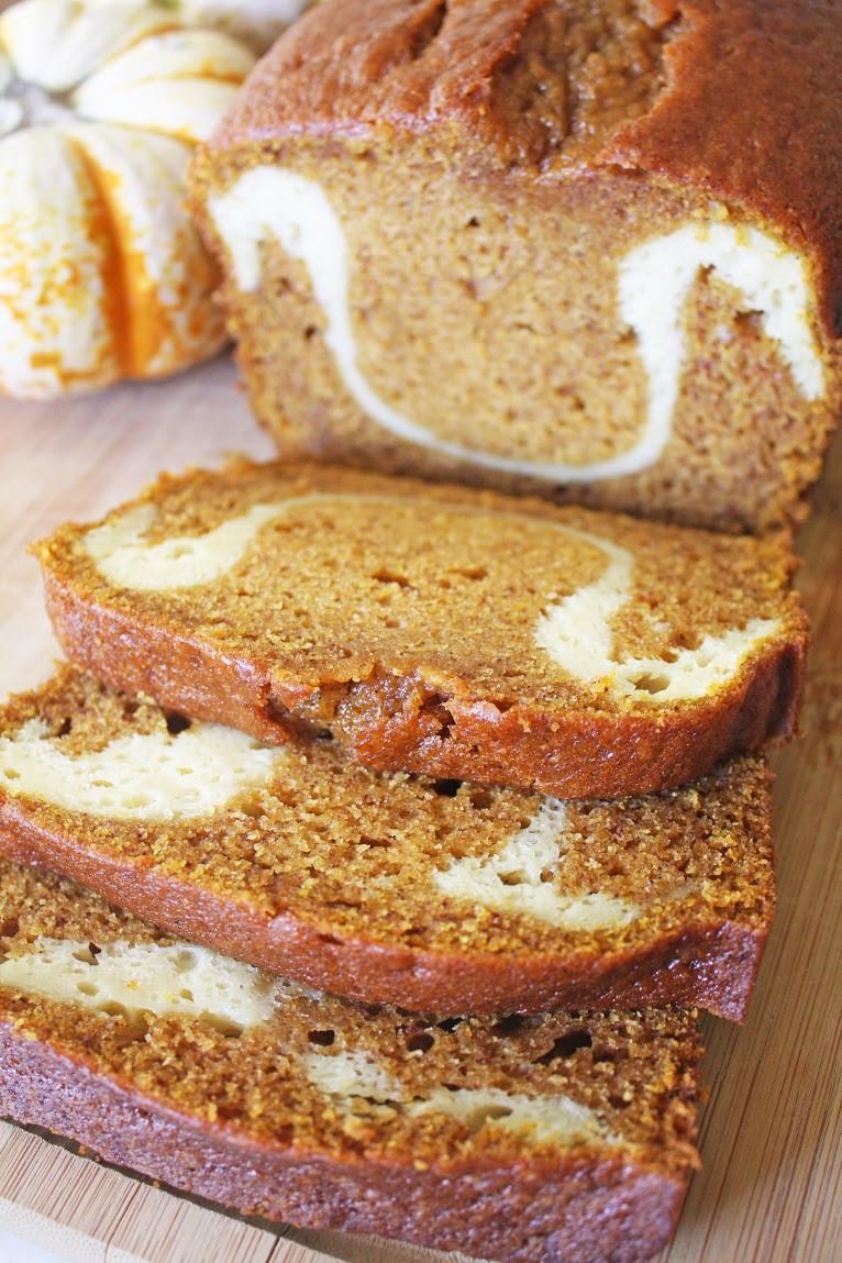 Pumpkin Bread With Cream Cheese  Last Minute Pumpkin Cream Cheese Bread Recipe