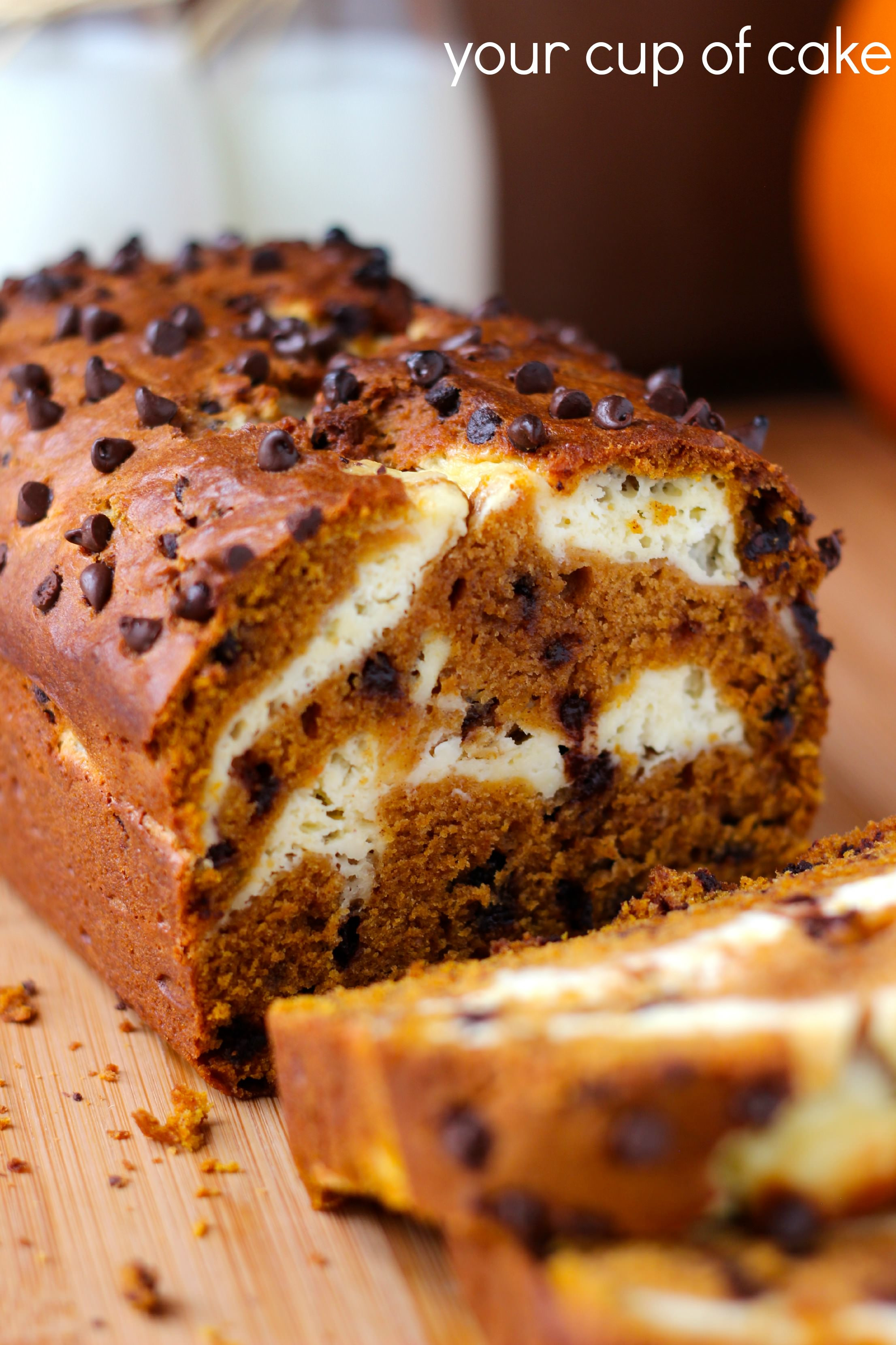 Pumpkin Bread With Cream Cheese  Pumpkin Cream Cheese Bread and Muffins Your Cup of Cake