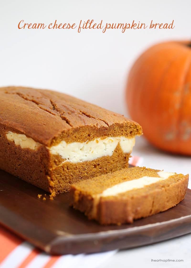 Pumpkin Bread With Cream Cheese  Cream cheese filled pumpkin bread I Heart Nap Time