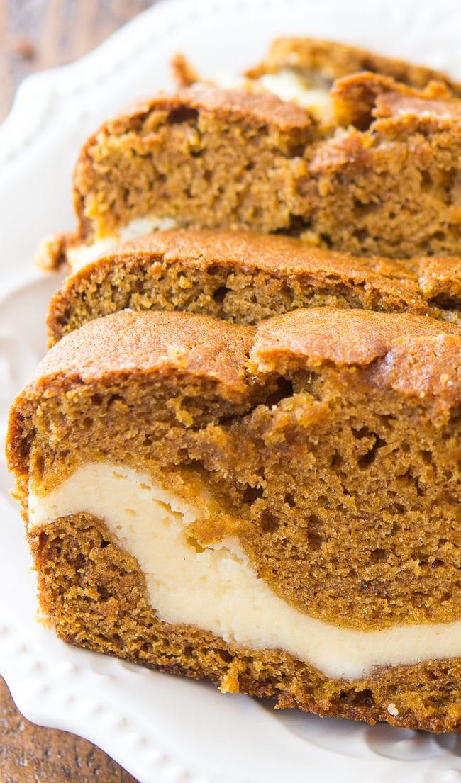 Pumpkin Bread With Cream Cheese  Cream Cheese Filled Pumpkin Bread