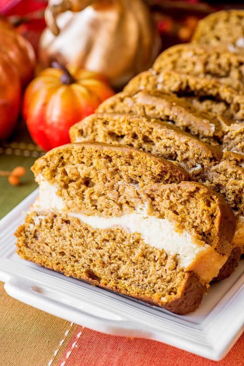Pumpkin Bread With Cream Cheese  Cream Cheese Pumpkin Bread Homemade Hooplah