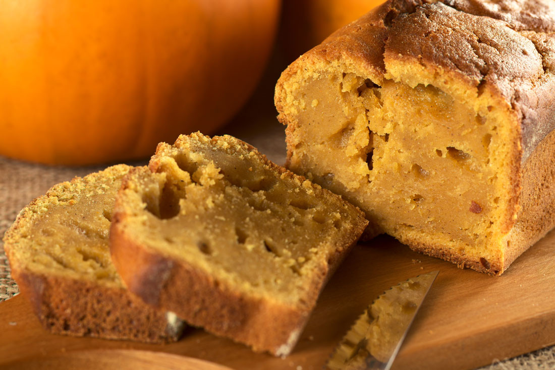 Pumpkin Bread With Fresh Pumpkin  Baking & Breaking Bread Four Homemade Bread Recipes