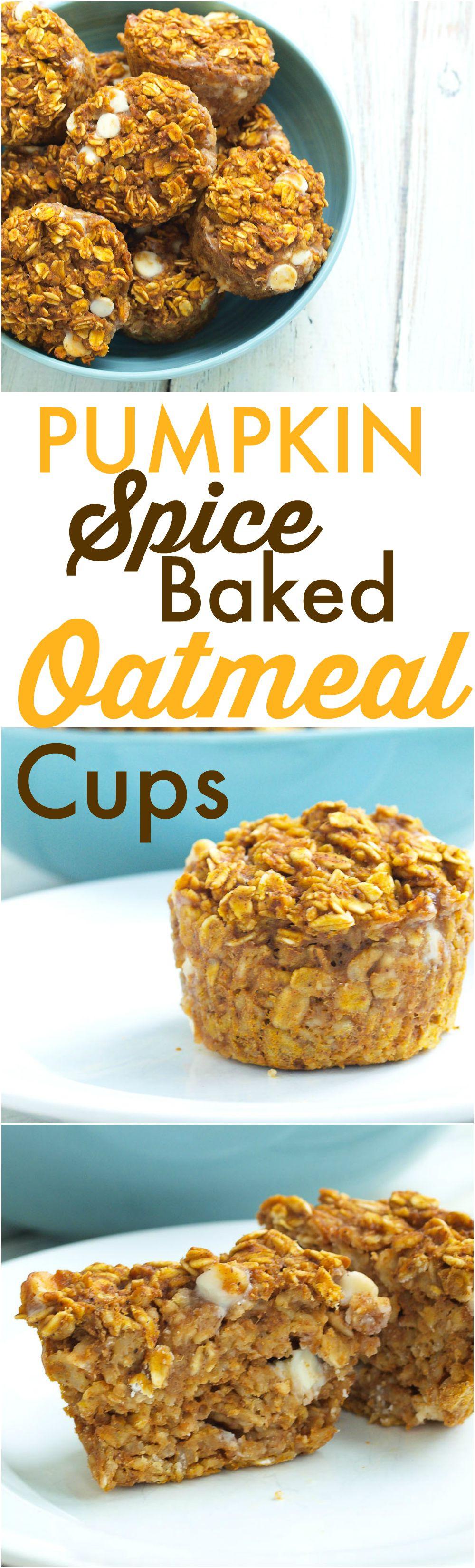 Pumpkin Breakfast Recipes  Pumpkin Baked Oatmeal Muffin Cups Happy Healthy Mama