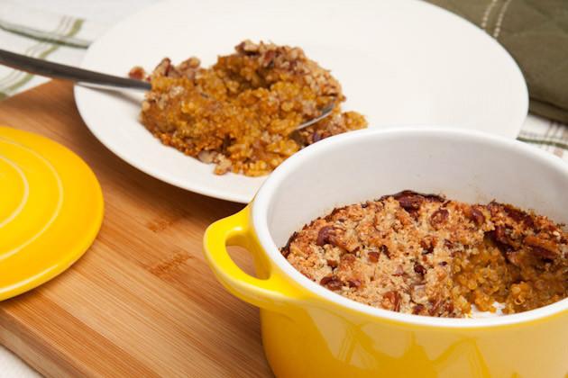 Pumpkin Breakfast Recipes  Pumpkin Pie Quinoa Breakfast Casserole