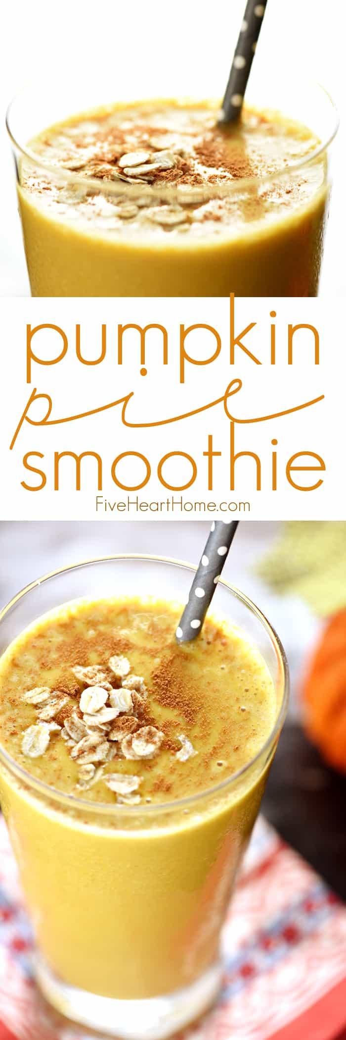 Pumpkin Breakfast Recipes  Pumpkin Pie Smoothies Healthy Oat Smoothies