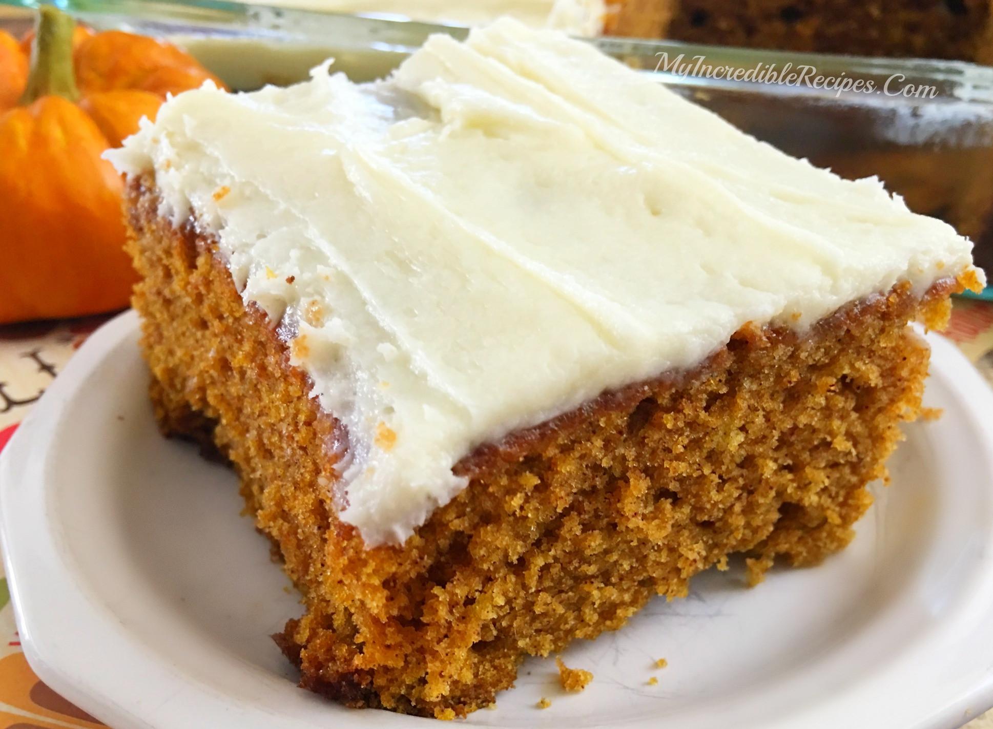Pumpkin Cake Recipe  Better than PUMPKIN Cake