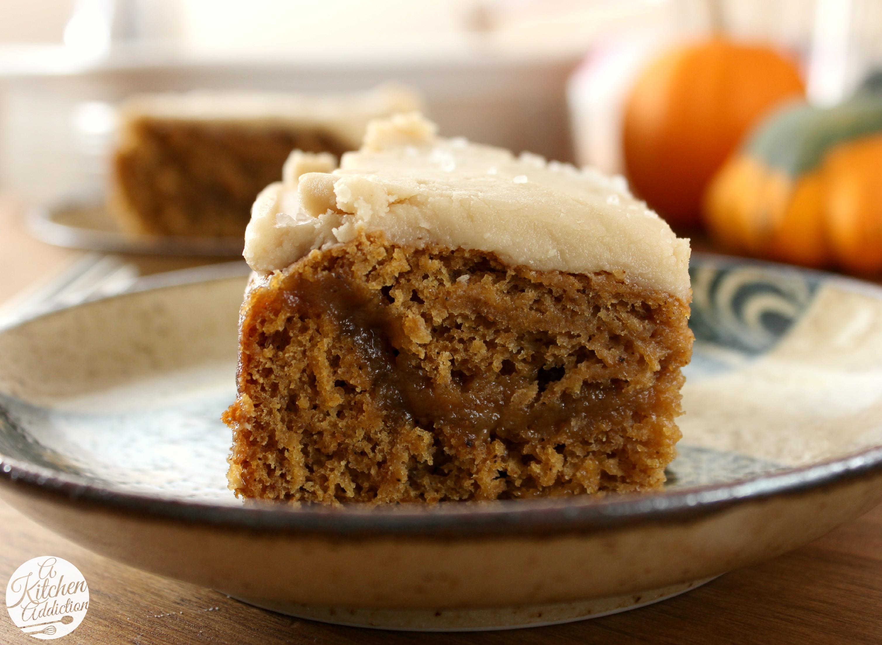 Pumpkin Cake Recipe  Salted Caramel Pumpkin Cake A Kitchen Addiction