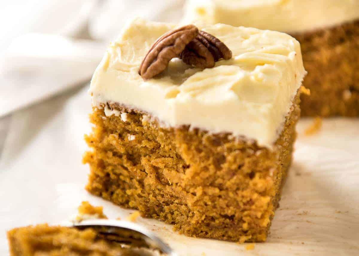 Pumpkin Cake Recipe  Pumpkin Cake with Cream Cheese Frosting