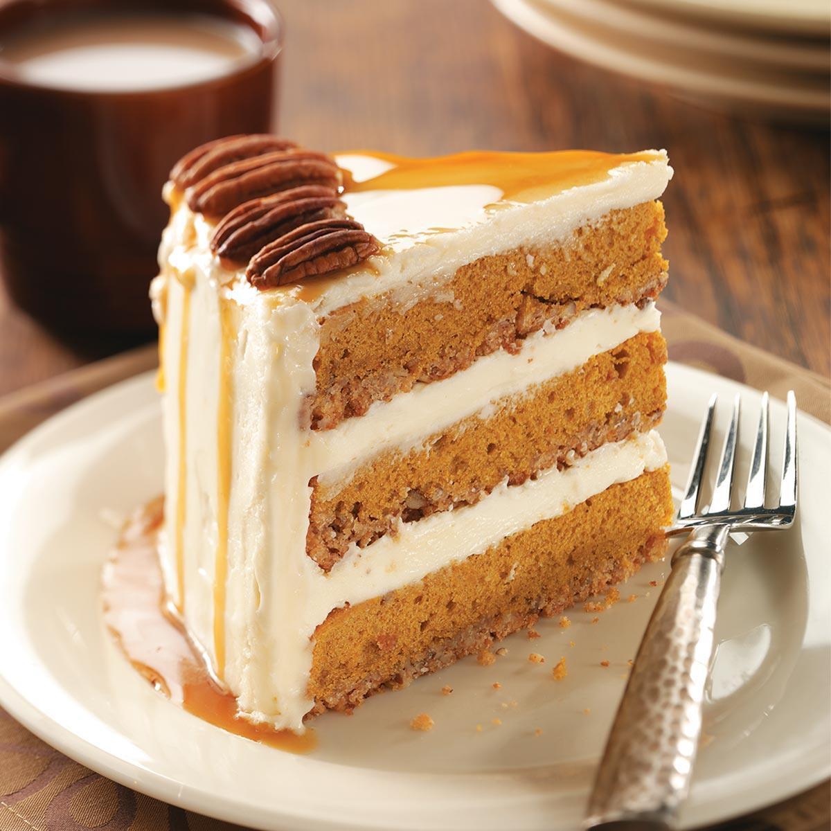Pumpkin Cake Recipe  Pumpkin Pecan Spice Cake Recipe