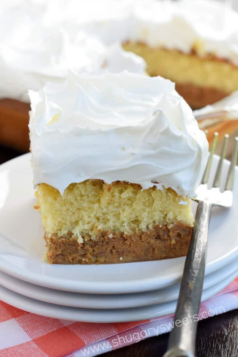 Pumpkin Cake Recipe  Pumpkin Magic Cake Shugary Sweets