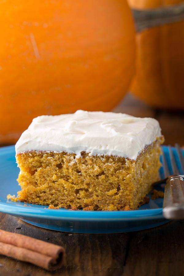 Pumpkin Cake Recipe  easy pumpkin cake recipe with cream cheese frosting