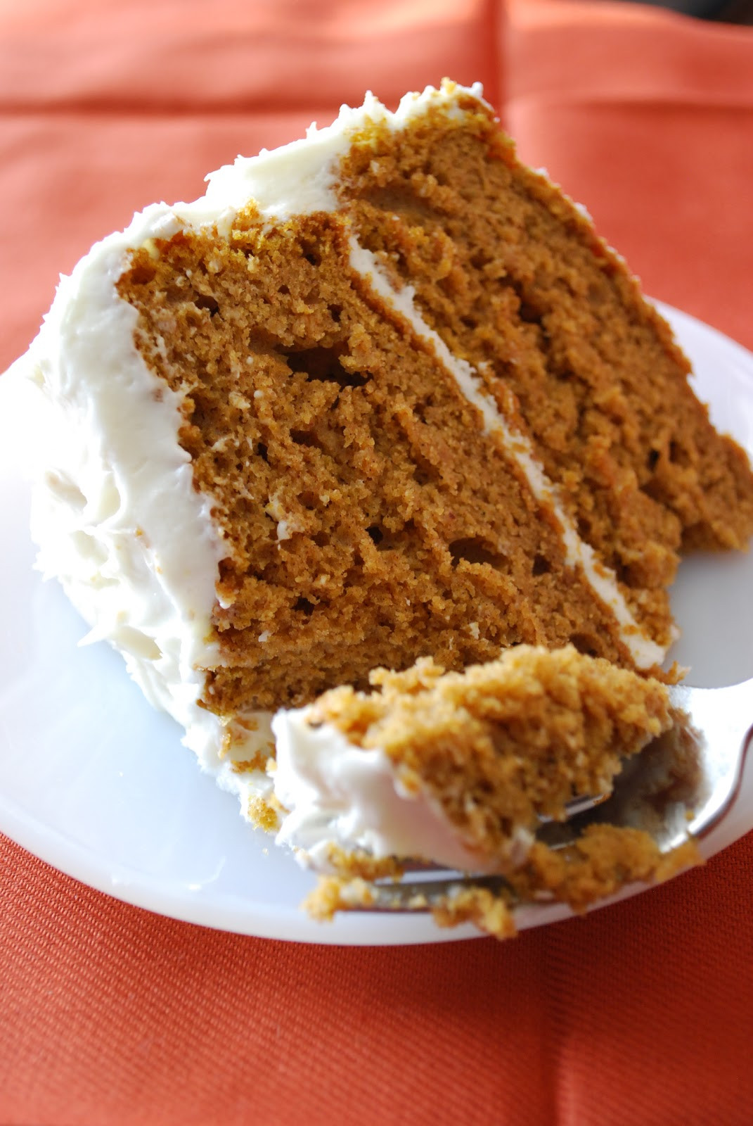 Pumpkin Cake With Cream Cheese Frosting  Bake Frost Repeat Pumpkin Spice Cake with Cream Cheese