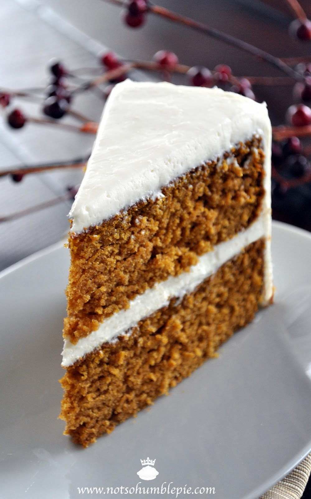 Pumpkin Cake With Cream Cheese Frosting  Not So Humble Pie Pumpkin Spice Cake with Whipped Cream