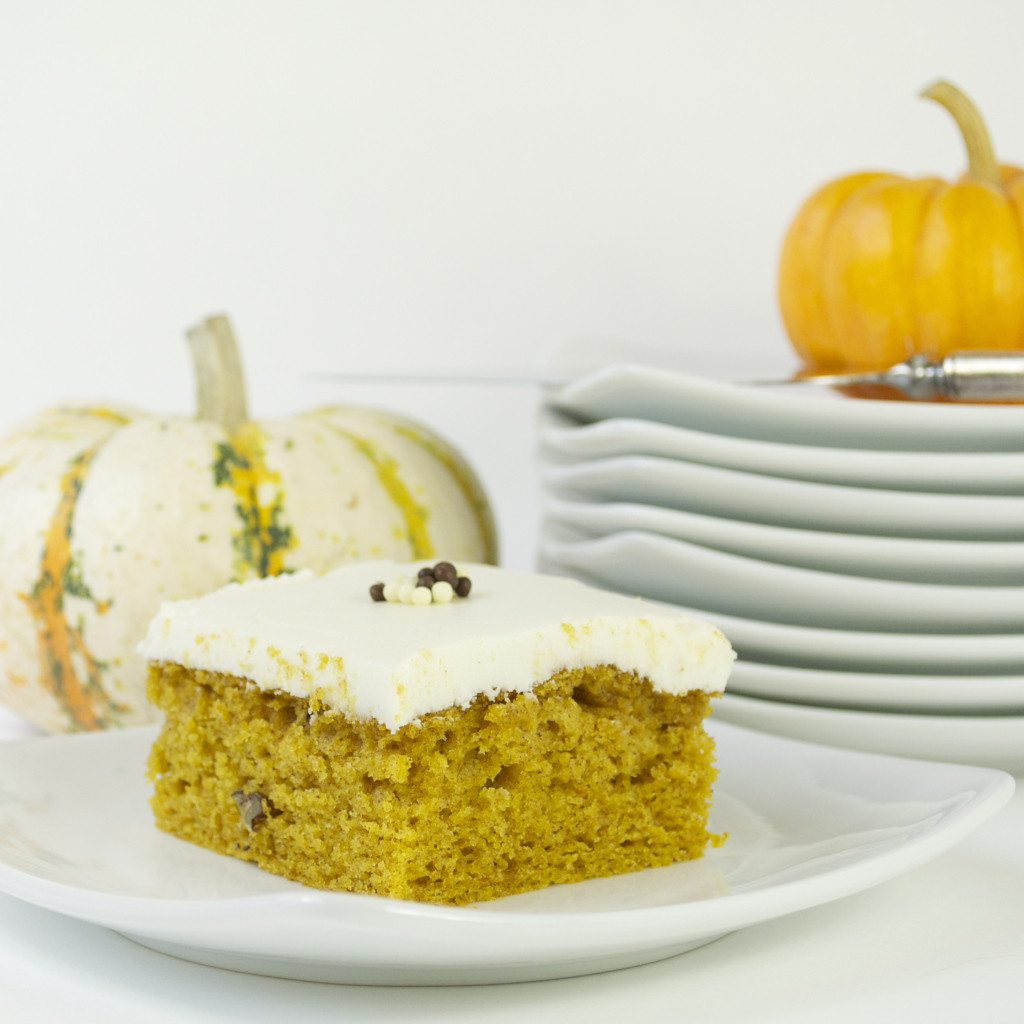 Pumpkin Cake With Cream Cheese Frosting  Pumpkin Cake with Cream Cheese Frosting Mama s Gotta Bake