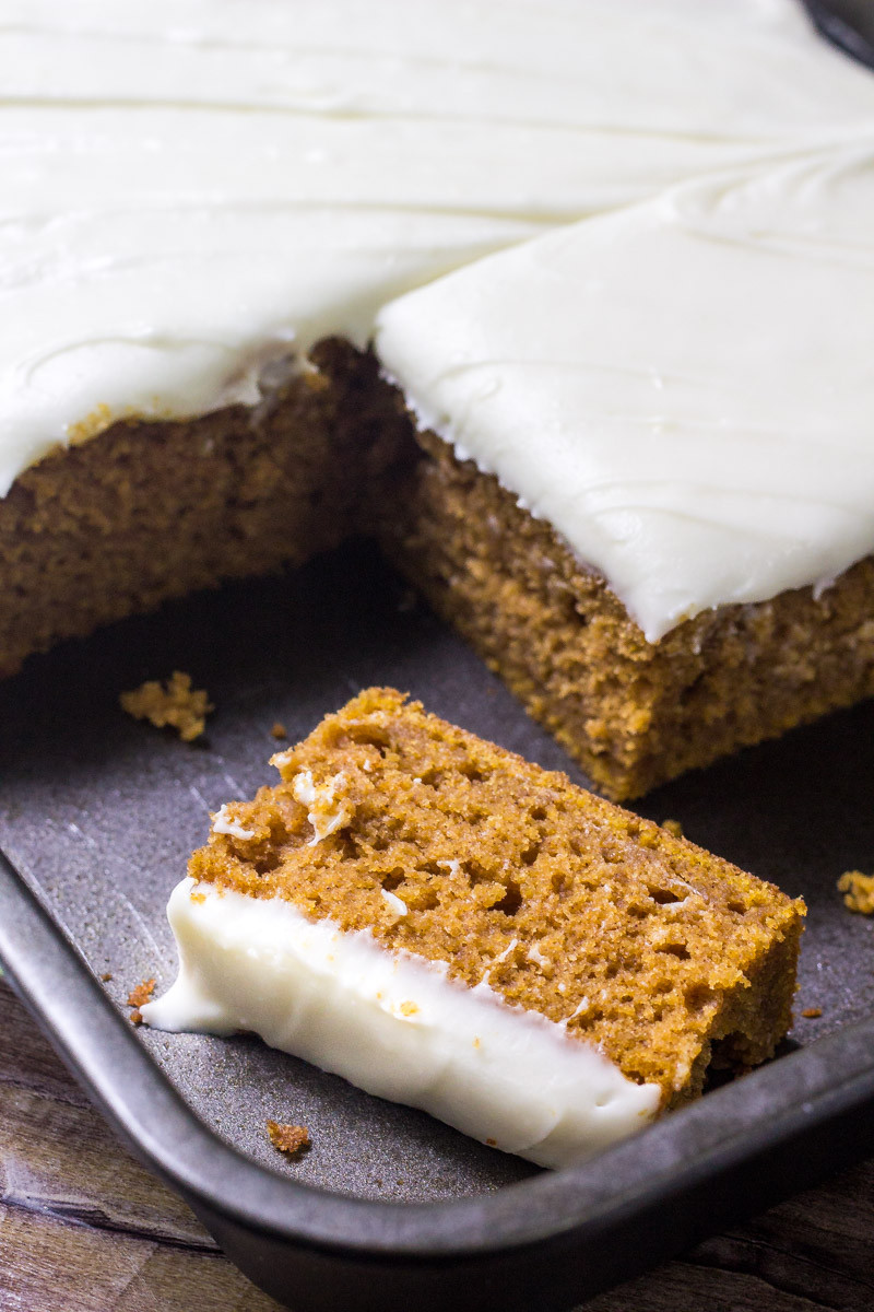 Pumpkin Cake With Cream Cheese Frosting  BEST Pumpkin Cake with Cream Cheese Frosting