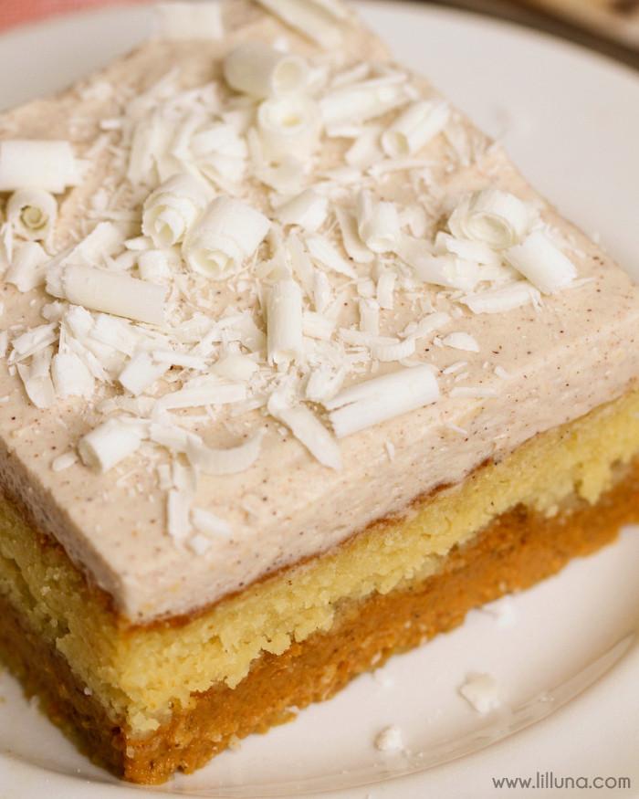 Pumpkin Cake With Yellow Cake Mix  Magic Pumpkin Cake