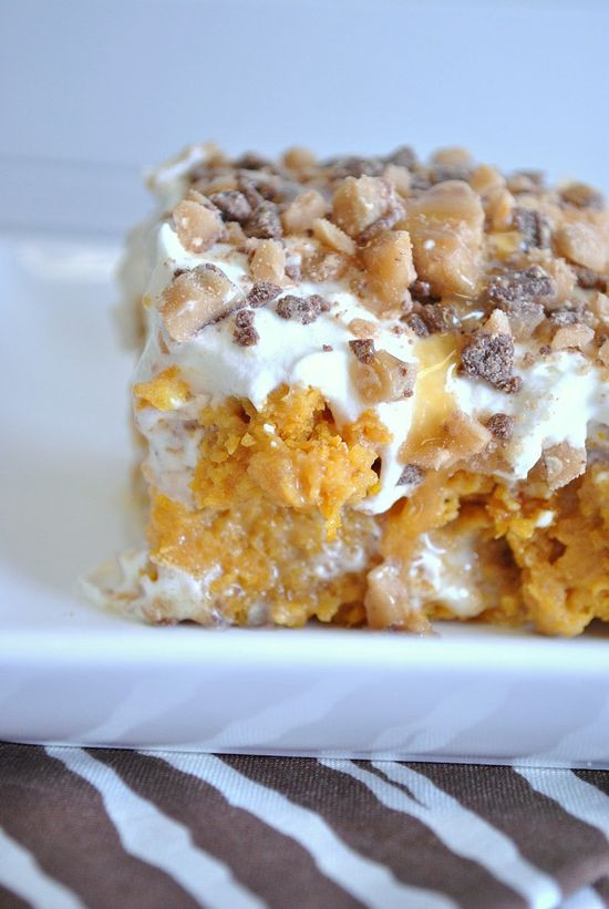 Pumpkin Cake With Yellow Cake Mix  Gourmet Tastes Easy pumpkin cake llow cake mix