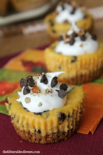 Pumpkin Cheese Cake Bites  Join us for Turn It Up Tuesday 162 My Silly Little Gang