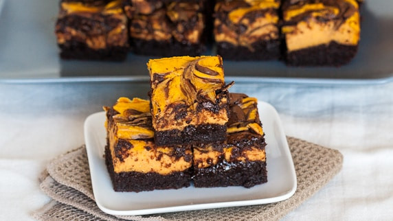 Pumpkin Cheese Cake Brownies  Chocolate Pumpkin Cheesecake Brownies Jo Cooks