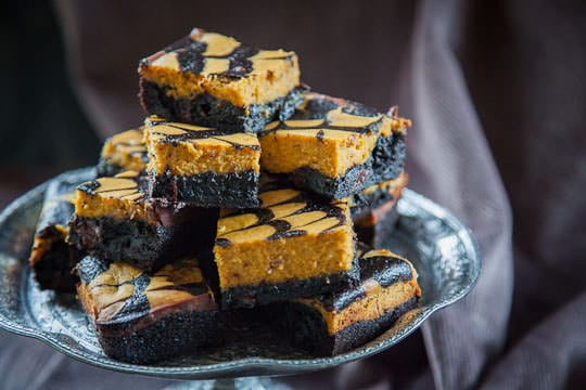Pumpkin Cheese Cake Brownies  Pumpkin Cheesecake Brownies Pumpkin Brownie Recipe