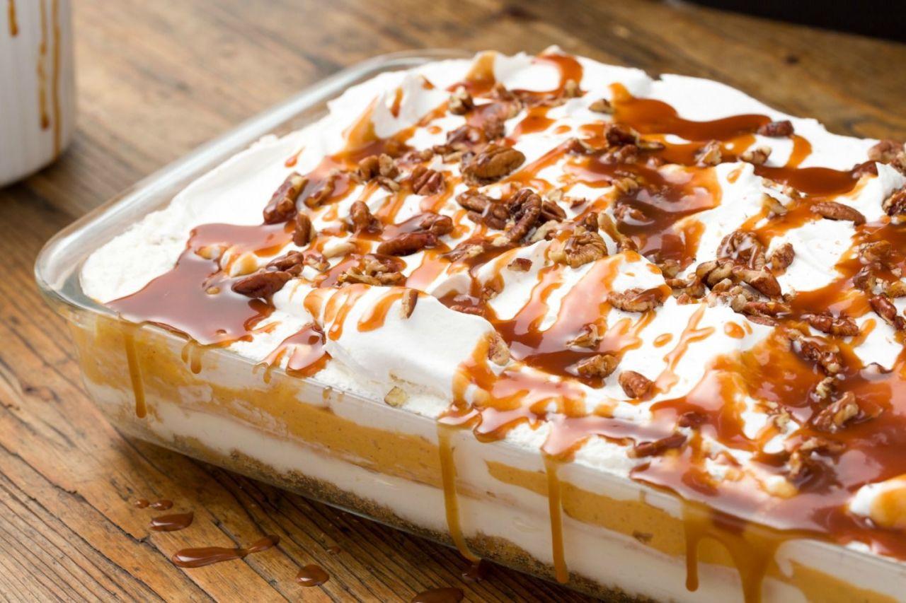 Pumpkin Cheesecake Lasagna  Pumpkin Cheesecake Lasagna Is The New Thanksgiving Classic